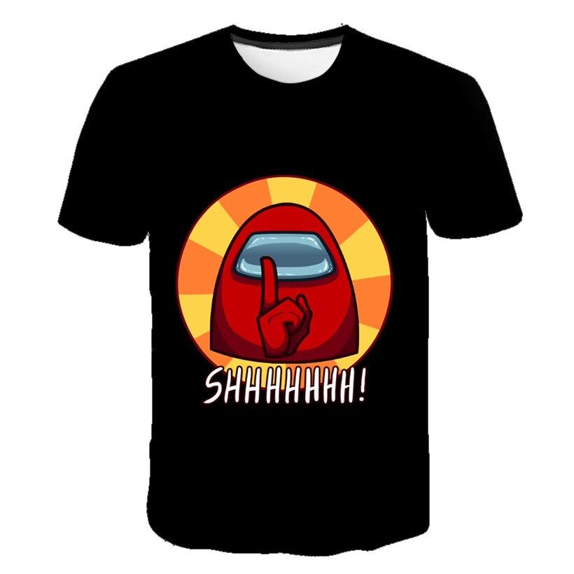 3D Cartoon Among Us Baby Kids Boys Girls Children Amoung Us T Shirt Short Sleeves Summer Clothing Among Us Print Tee Chucky