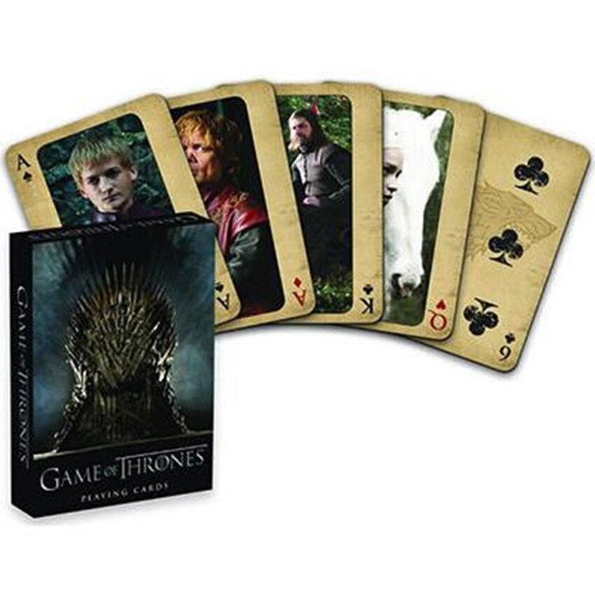 Movie Game of Thrones Cosplay Props Stark Jon Snow Daenerys Targaryen Dany Dragon Mother Playing Cards Board Game(China)