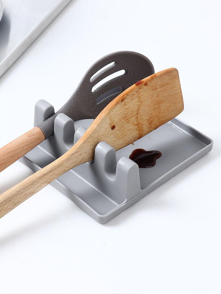Kitchen Spatula Storage Rack, Spoon Pad, Chopsticks, Pot Cover Storage Bracket, Household Creative Multi-functional Plastic