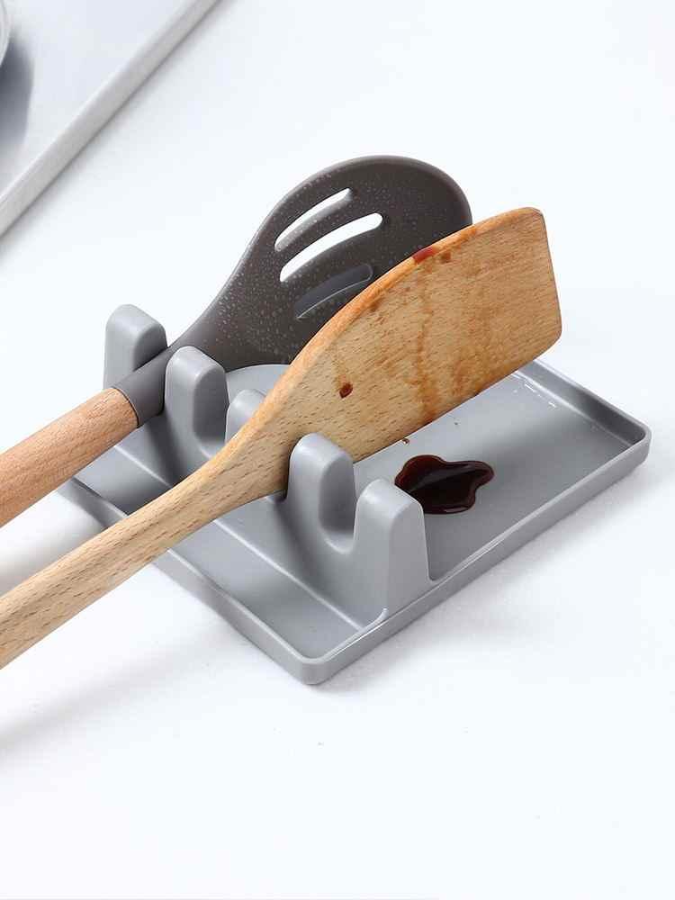 1PC Kitchen Shelf Spoon Chopsticks Pot Lid Spatula Multifunctional Rack Cooking