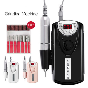 Electric Nail Drill 30000 RPM Nail Art Equipment Nail Auxiliary Nail Machine Electric Manicure Tool Polish Machine Charge BLACK
