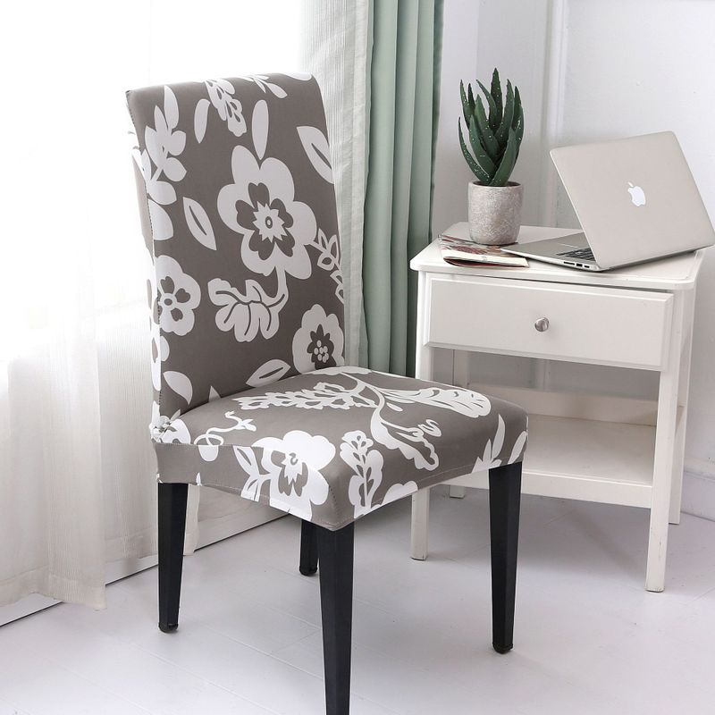Print Jacquard Chair Covers Spandex For Wedding Dining Room Office Banquet Housse de Chaise Chair Cover