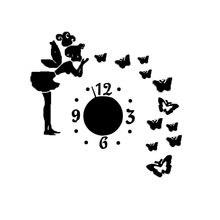 Сказочные декоративные настенные часы зеркальные украшения романтичный