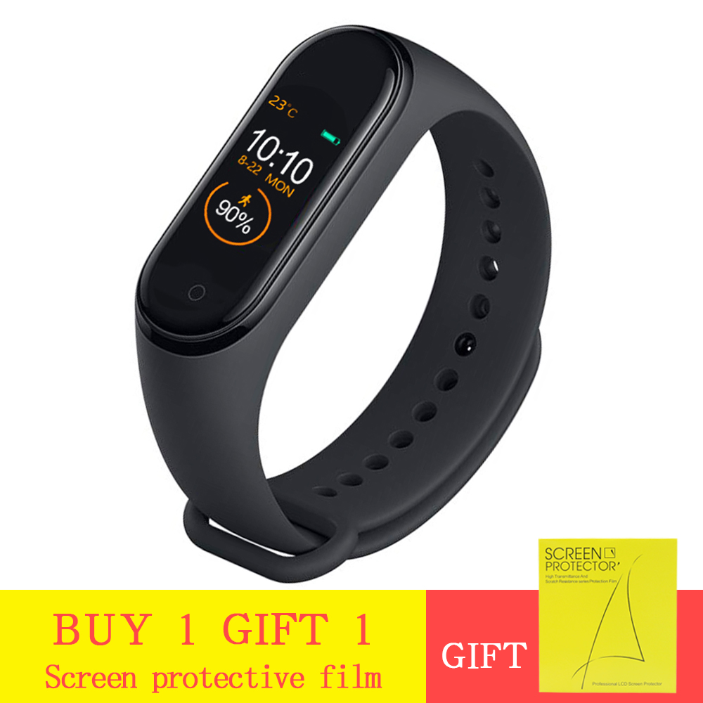 M4 Smart Band Heart Rate Blood Pressure Monitor Fitness Bracelet Sport Smart Bracelet Smartband Activity Tracker pk mi band 4 image