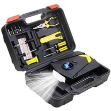 Com ferramentas de reparo conjuntos dc 12v compressor de ar do carro 150 psi digital pneu inflator bomba de ar auto para carro com luz led