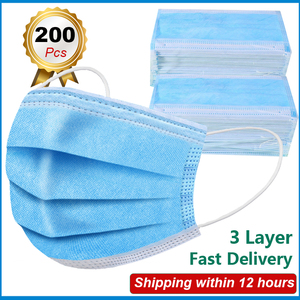 5/10/30/50/100/200 pcs Disposable Medical Mask Face Mouth 3 Layer Breathable Protective Mask Anti Dust fog Filter Surgical Masks