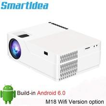 Smartidea m18 nativo 1920x1080 projetor hd completo led 3d casa cinema proyector 5500lumens android jogo de vídeo lcd 1080 p beamer