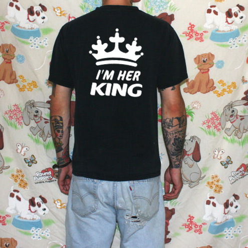King Queen Clothes Matching Family Shirts New Father Mother Daughter Son Cotton T-shirt
