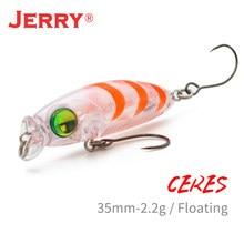 Jerry ceres lrf isca de pesca rocha flutuante minnow wobbler isca dura 1.37in 35mm área poleiro de truta rockfish plug ultraleve
