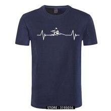 High Quality Heartbeat of Rowing Men's Tshirt Classic Men Harajuku Casual Summer T-Shirt 3D Free Shipping Droshipping