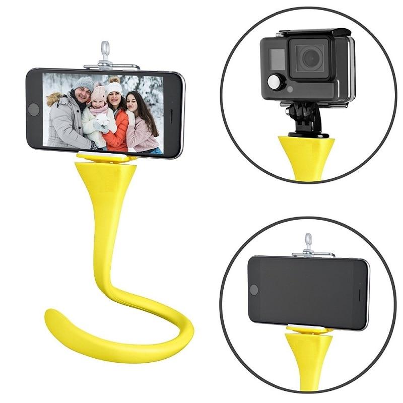 Flexible Selfie Stick Monopod Tripod Monkey Holder For GoPro IPhone Camera Phone Car Bicycle Universal