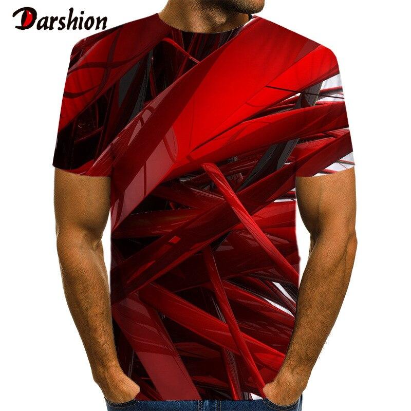 3D Print T-Shirt Men New Short Sleeve Strange Tshirt Harajuku Slim Fitness T-Shirts Hip Hop Streetwear Tee Shirt Homme Clothes