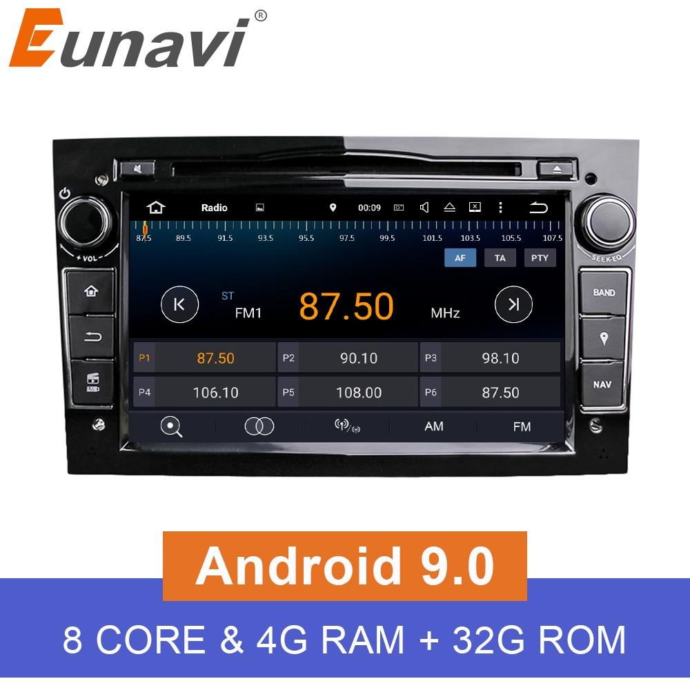 Eunavi HD 1024 600 Octa Core 2 Din Android 9 0 Car DVD Player For Opel