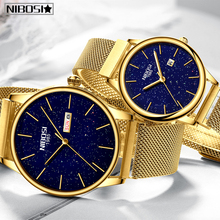 NIBOSI Couple Watch Relogio Feminino Waterproof Man and Woma