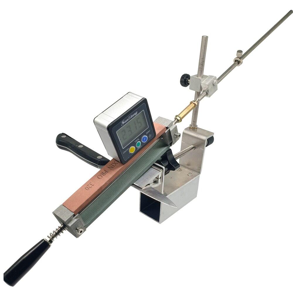 2020 nouveau couteau aiguiseur pince secousse KME outils de meulage meuleuse machine 200 #500 #1000 # diamant pierre à aiguiser cuir strop Sy-002