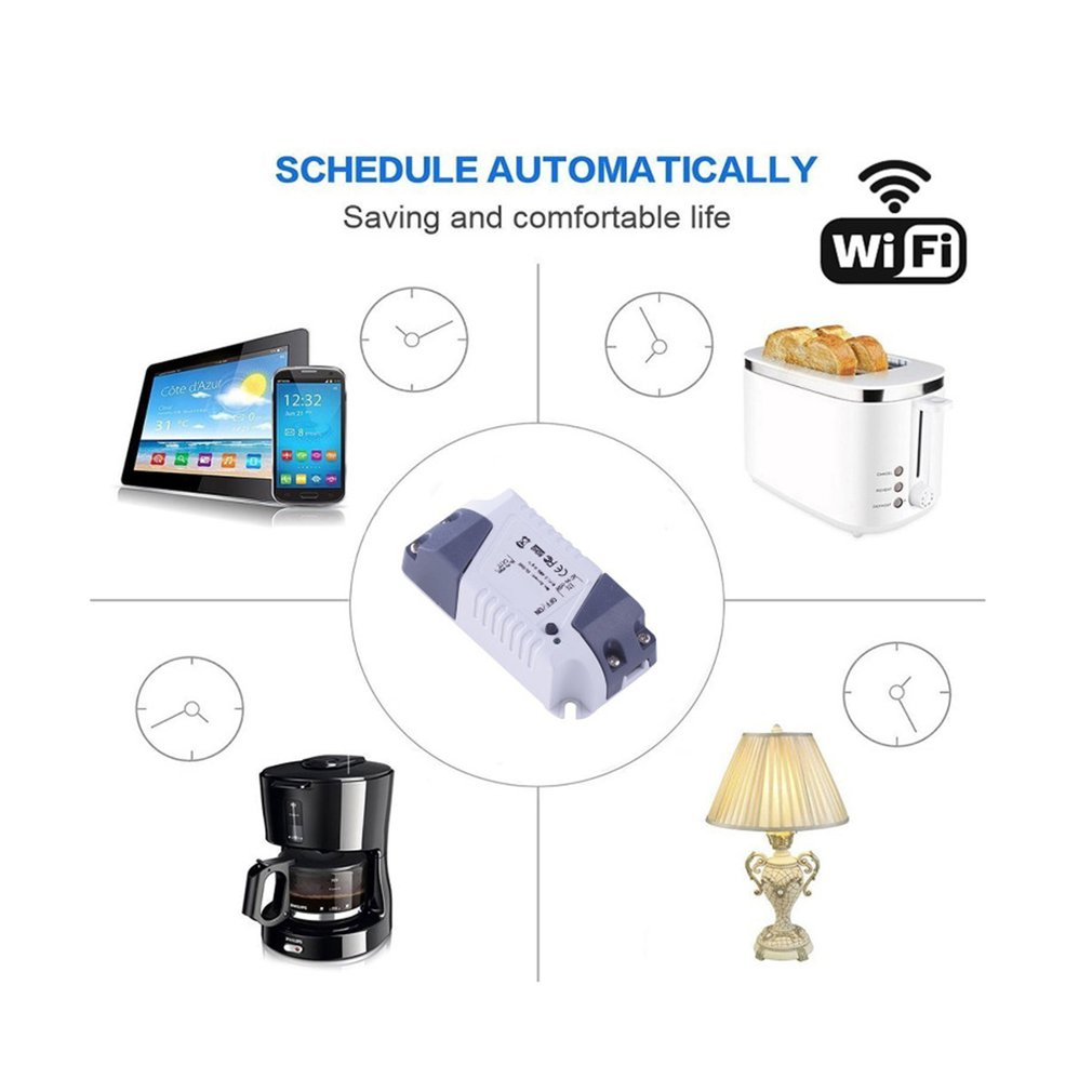 Wide Application APP Remote Control Smart Home Modification Mini Remote Wifi Timer Switch for Alexa Googlehome in Home Automation Modules from Consumer Electronics