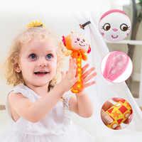 Baby, Kleinkind Neugeborene Plüsch Rassel Spielzeug Hand Erfassen Beißringe Niedlichen Tier Angefüllte Handbell Ring Frühen Bildung Jungen Mädchen Geschenk
