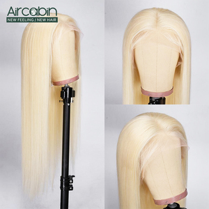 Image 2 - Aircabin 32 30 Inch Straight Lace Front Wigs 613 Blonde Color Brazilian Human Hair Lace Closur Wigs For Women Remy Hair Wigs