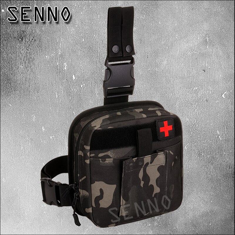 Men Nylon Belt Pack Bags Purse Hip Bum Accessory First Aid Waist Molle Sundries Military Tactics Fanny Leg Drop Medical Bag