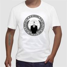 Anonymous Clothes cotton Fabr T Shirt For Men camiseta de los hombres guns n roses mass effect euro size sbz268
