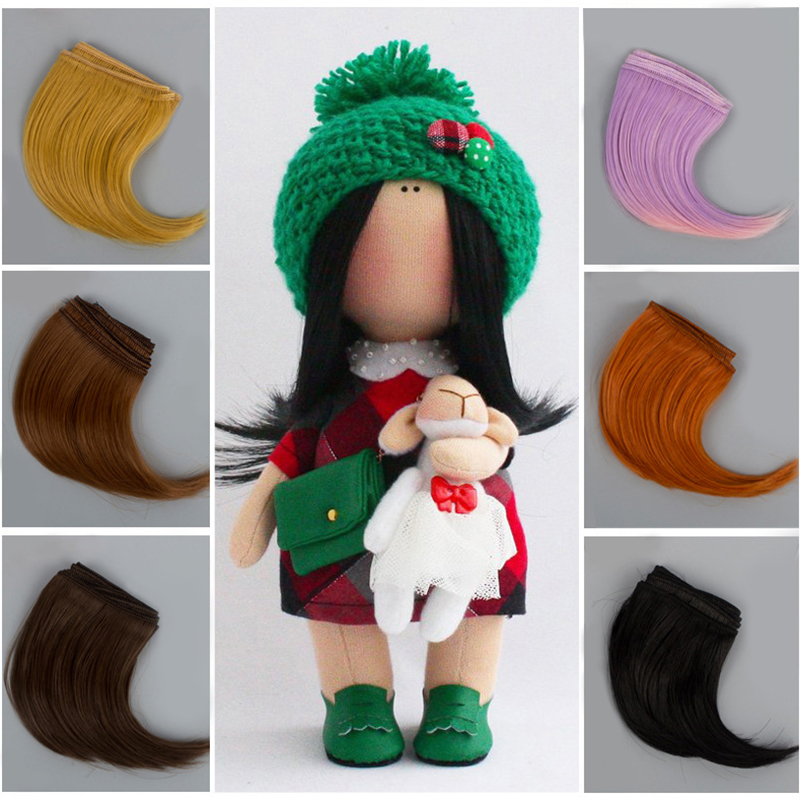New 10cm DIY Hairline Big Roll Big Buckle Dark Button Tresses Doll Wig Material Hair Wig For 1/3 1/4 BJD Doll Accessories Toys