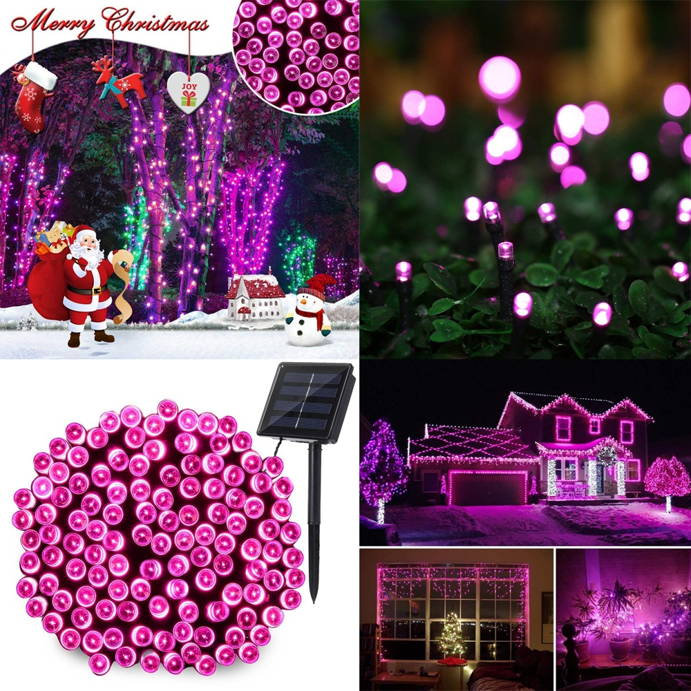 Outdoor Lighting String 100 LED Solar Garden Light Solar Power Lamp Christmas Party for Street Patio Fence Balcony Fairy Garland