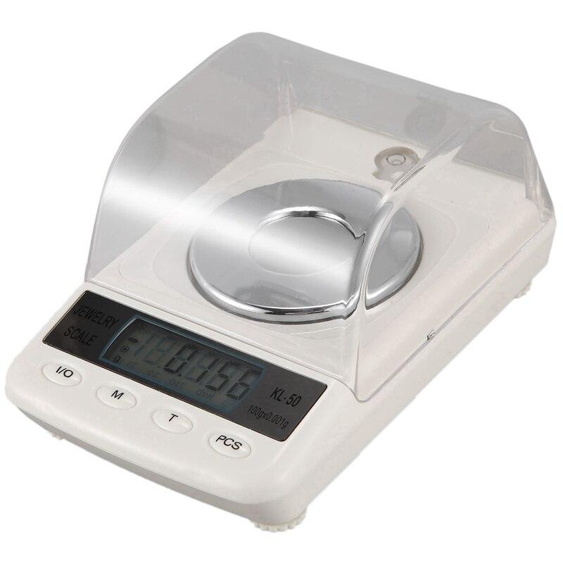 100G / 0.001G LCD numérique bijoux échelle précision diamant laboratoire échelle électronique échelle avec câble USB