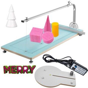 VEVOR Foam Cutter Machine Hot Wire Foam Cutter Machine Adjustable Temperature Table Foam Circle Cutter Fire MDF + Alloy