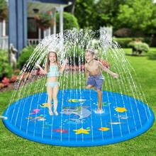 Summer Beach Play Water Spray Mat Inflatable Kids Outdoor Lawn Sprinkler Game Cushion