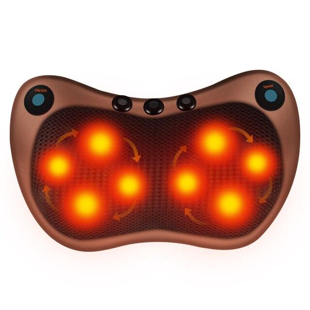 電気マッサージ枕バイブレーター緩和肩ネックバックボディ加熱指圧混練赤外線療法ネックマッサージ