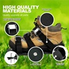 ELEG-Garden Lawn Aerator Shoes Sandal Aerating Spike Grass Pair Green Spiked Tool Loose Soil Shoes Black 30X13CM promo