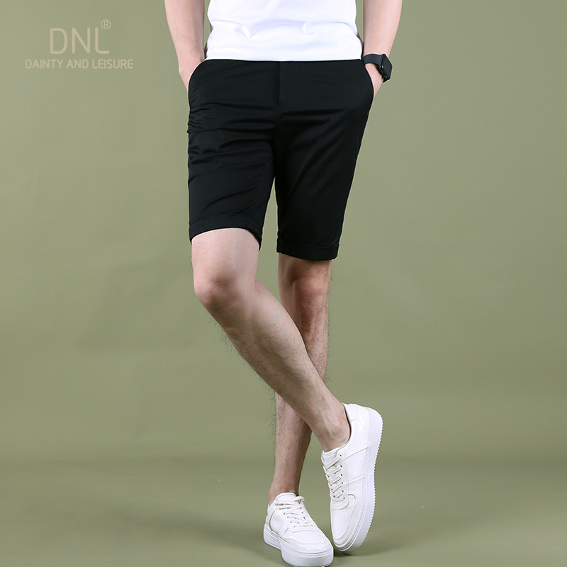 Fashion Men Shorts Summer Slim Fit Plus Size Stretch Shorts Men Cotton With Pockets Streetwear Szorty Trousers Elastic XX60MS