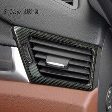 Dla BMW X1 E84 klimatyzator boczny z włókna węglowego dekoracja do wylotu dopasowane obramowanie ramki naklejki Car Styling wyposażenie wnętrz