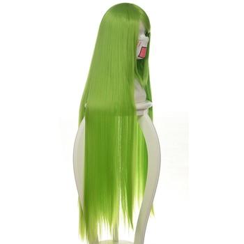 Code Geass C.c Cc Empress Wig Cosplay Costume 80cm Green Long Straight heat-resistant Fiber Hair Peruca Anime Wigs 2