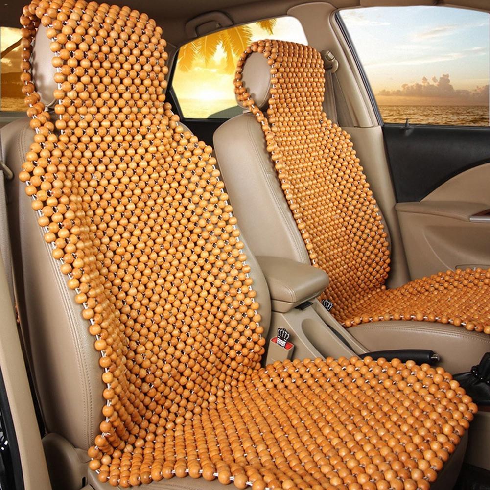 Été Cool perles en bois housse de siège Massage siège de voiture coussin 45X130 CM chaise couverture voiture Auto bureau siège coussin