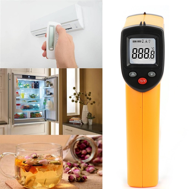 Image 3 - Infrared Thermometer 380 Degree Celsius LCD Display Temperature 