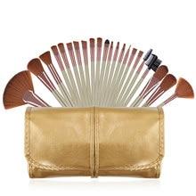 22pcs Golden Makeup Brushes Kit Foundation Powder Eye shadow Lip Blusher Brush Luxury Brown Hair Make up brushes tool set