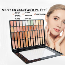VERONNI 50 Color Makeup Full Cover Foundation Corretive Long Lasting Face Contouring Cosmetics Kit Camouflag Concealer Palette