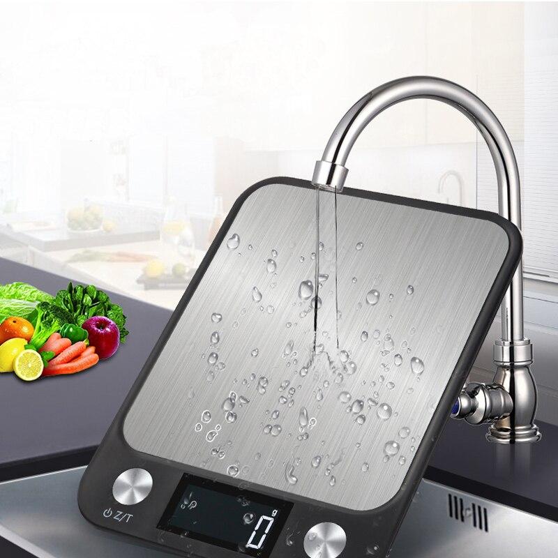 דיגיטלי רב-פונקציה מזון מטבח בקנה מידה 5 kg/1g נירוסטה מאזניים אלקטרוניים LCD תצוגה דיגיטלי בקנה מידה עבור משק בית שחור