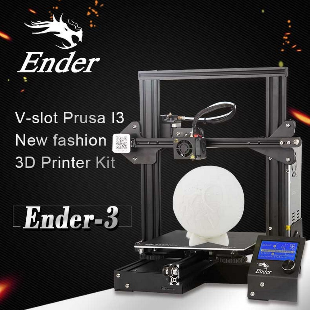 CREALITY 3D Ender-3 3D Printer Magnetic Build Plate Resume Power Failure Printing Mean Well Power Supply DIY Appliances Quiet