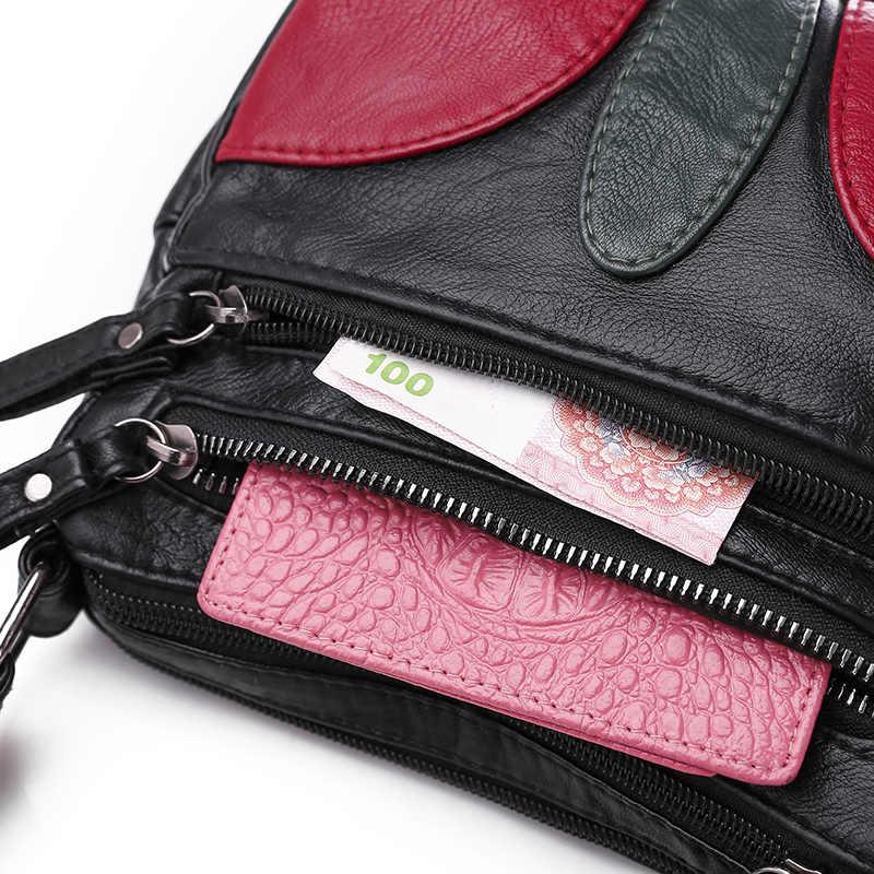 Siyah Kış Yaprak Yıkanmış Deri Lüks Çanta Kadın Çanta Tasarımcısı Kadın Omuz Crossbody Çanta Anne Için Ana Kesesi Bolsas