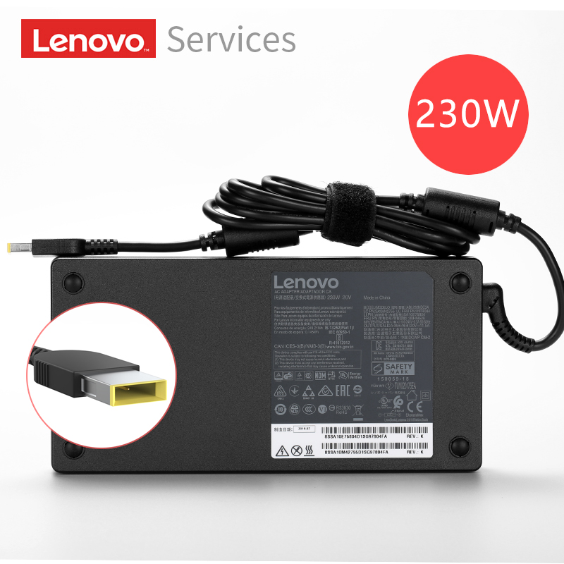 Original <font><b>20V</b></font> 11.5A 230W <font><b>AC</b></font> Power <font><b>Adapter</b></font> Laptop Ladegerät Für Lenovo ThinkPad Y7000 Y7000P P50 P51 P52 W540 w541 Y920 Y9000K image
