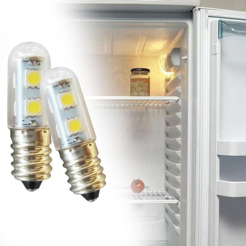 Mini E14 LED Refrigerator Lights SMD5050 1W Warm White Microwave Ovens Range Hood Night Table Sewing Machine Lamp(China)