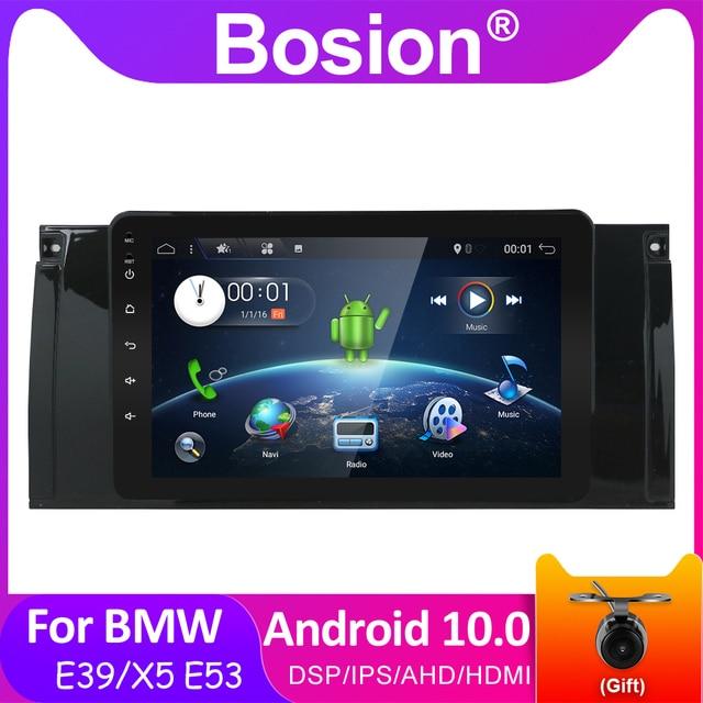 Bosion 자동차 DVD GPS DSP IPS 5 시리즈 BMW E39 안드로이드 10 X5 E53 자동차 라디오 멀티미디어 비디오 플레이어 탐색 2 din dvd