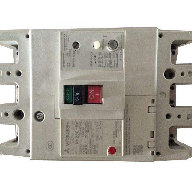 Guoxin NV250-SW MCCB monophasé Mini minuterie 100-440V AC 3 pôles disjoncteur 200A 32A 125A