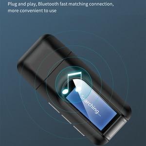 Image 4 - บลูทูธ 5.0 ตัวรับสัญญาณ LCD 3.5 มม.AUX แจ็ค USB ไร้สายอะแดปเตอร์เสียงสำหรับรถยนต์ PC ทีวีลำโพงหูฟังเพลง