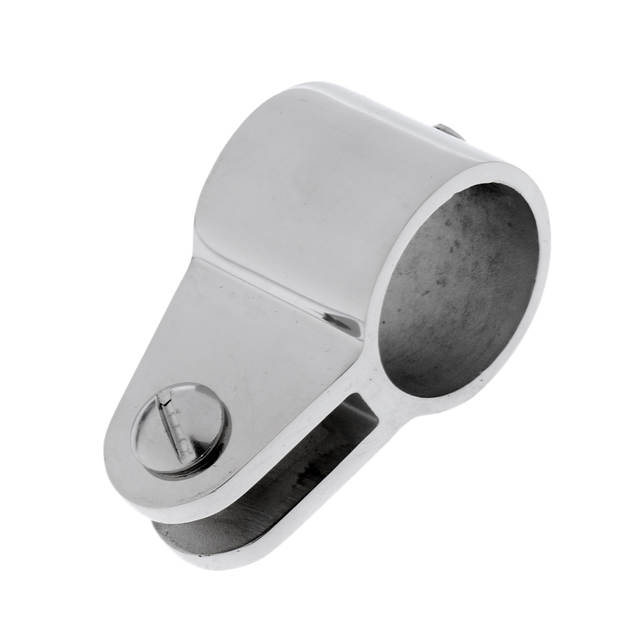 2 x 22mm Boat Bimini Top Pipe Eye End Cap 2 x Clamp Jaw Slide Silver