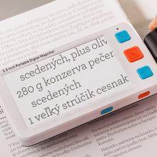 Leitor eletrônico de alta definição portátil da lupa da leitura da baixa visão do auxílio da visão de 5.0 polegadas e do jornal