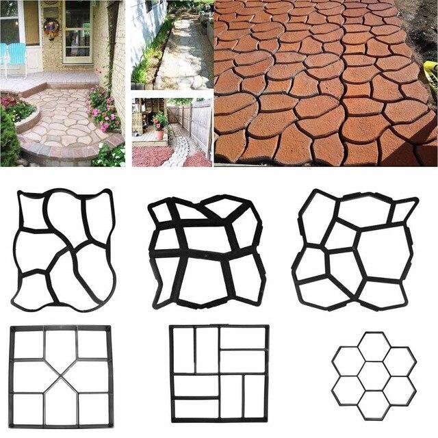 Reusable Manually Paving Cement Brick Concrete Molds DIY Plastic Path Maker Mold Garden Stone Road Mold Garden Decoration