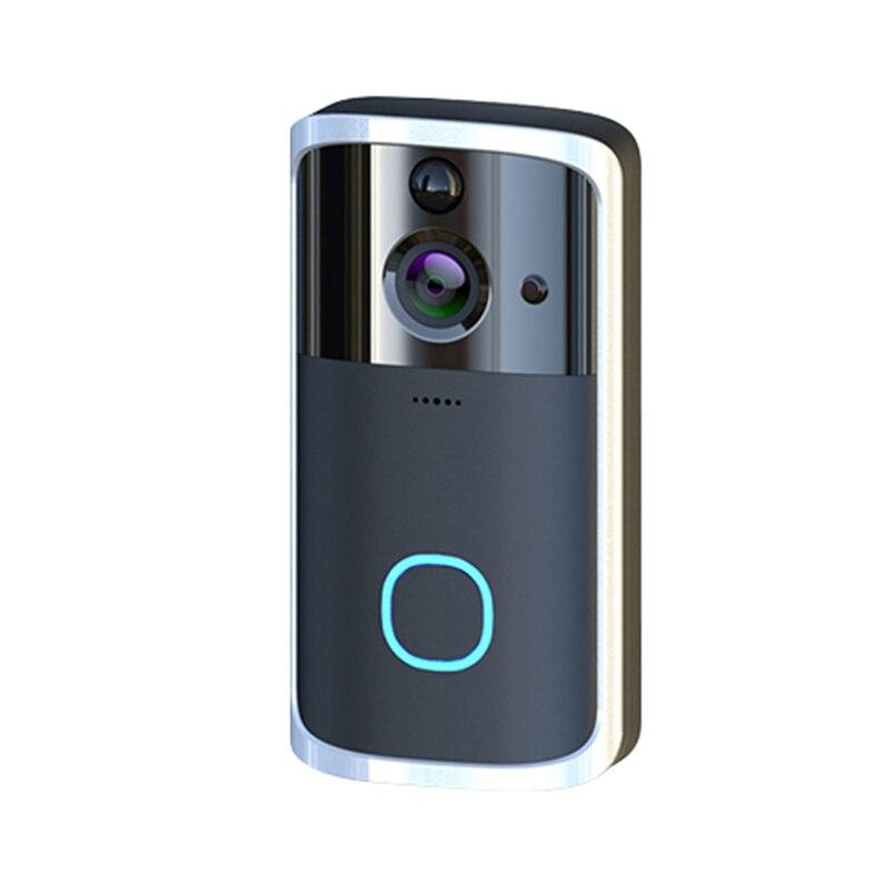 Güvenlik ve Koruma'ten Kapı Zili'de M7 720P akıllı Wifi Video kapı zili kamera görsel interkom Chime ile gece görüş Ip kapı zili kablosuz ev güvenlik kamerası title=